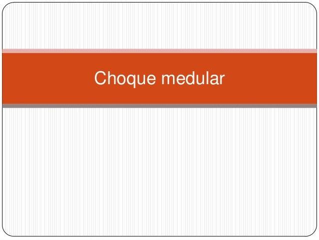 Choque medular