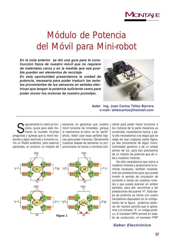 MONTAJE                     Módulo de Potencia                   del Móvil para Mini-robot     En la nota anterior se dió ...
