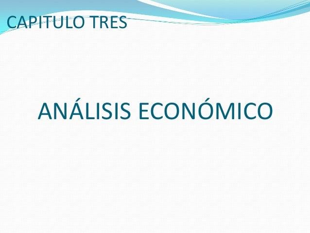CAPITULO TRESANÁLISIS ECONÓMICO