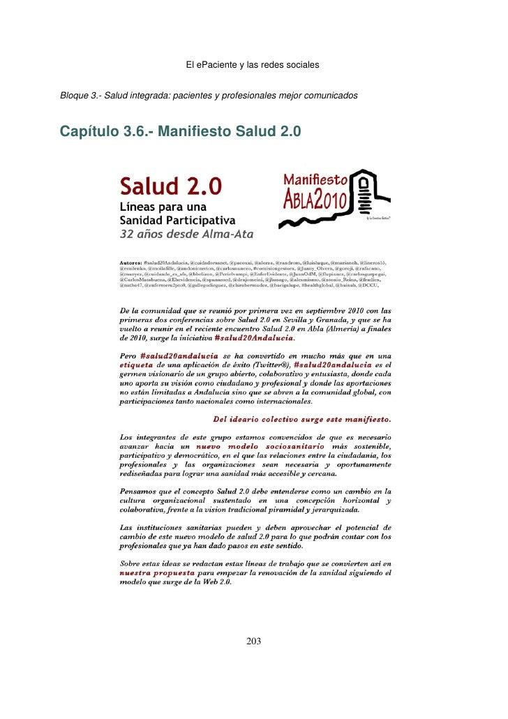 El ePaciente y las redes socialesBloque 3.- Salud integrada: pacientes y profesionales mejor comunicadosCapítulo 3.6.- Ma...