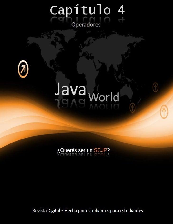 Java World – Capítulo 4     2  Operadores                                                                                 ...