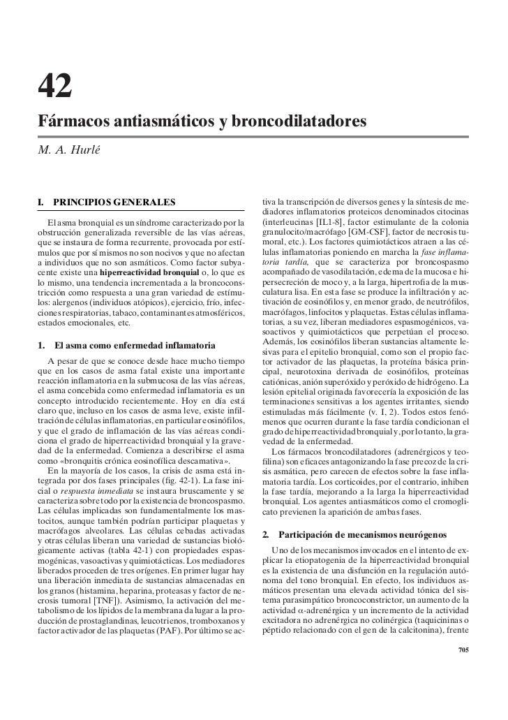 42Fármacos antiasmáticos y broncodilatadoresM. A. HurléI.   PRINCIPIOS GENERALES                                       tiv...