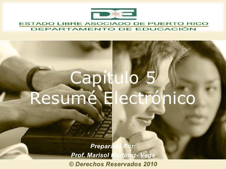 Capitulo 5   el resume electronico