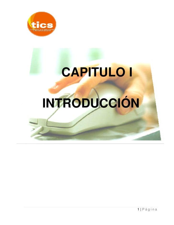 CAPITULO I  INTRODUCCIÓN                    1 Página