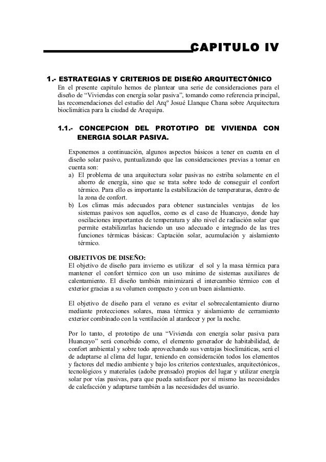 CAPITULO IV1.- ESTRATEGIAS Y CRITERIOS DE DISEÑO ARQUITECTÓNICO  En el presente capitulo hemos de plantear una serie de co...