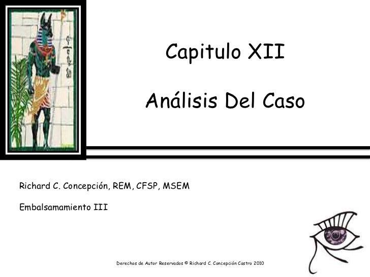 Capitulo XII Analisis de Caso