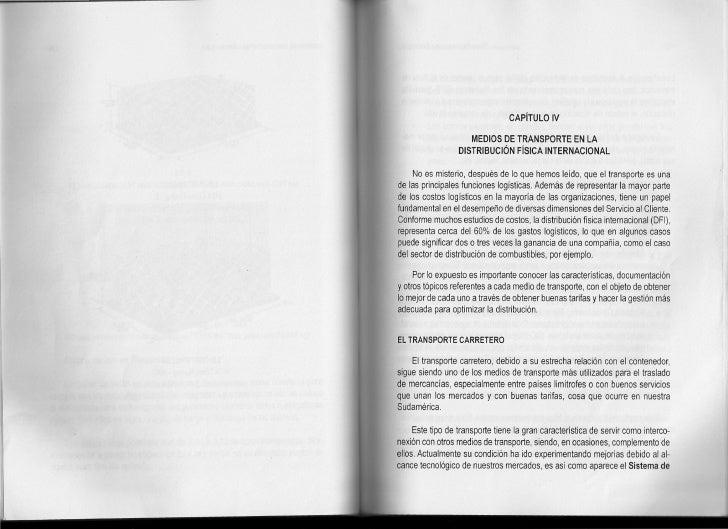 CAPíTULO IV                       MEDIOS DE TRANSPORTE EN lA                   DISTRIBUCiÓN FíSICA INTERNACIONAL       No ...