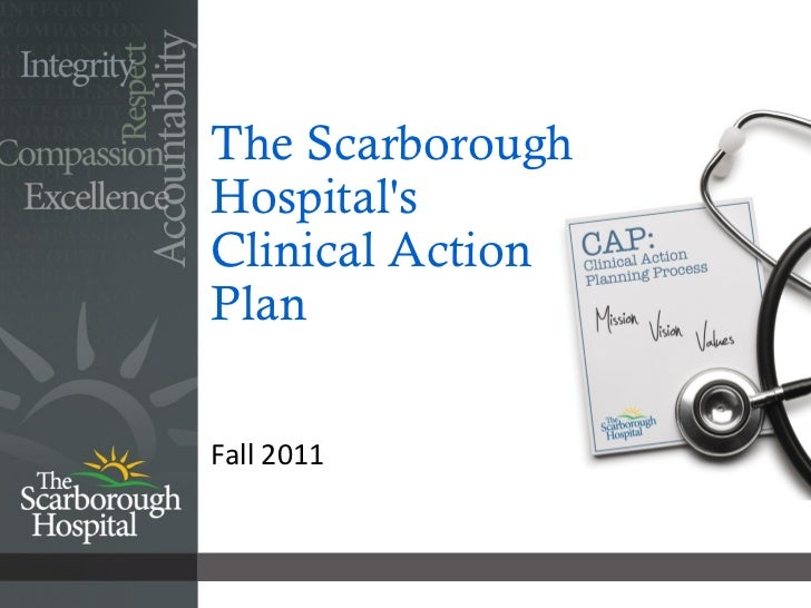 The Scarborough Hospital's Clinical Action  Plan <ul><li>Fall 2011 </li></ul>