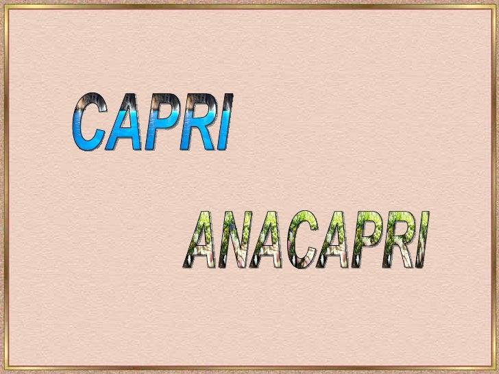 CAPRI  ANACAPRI