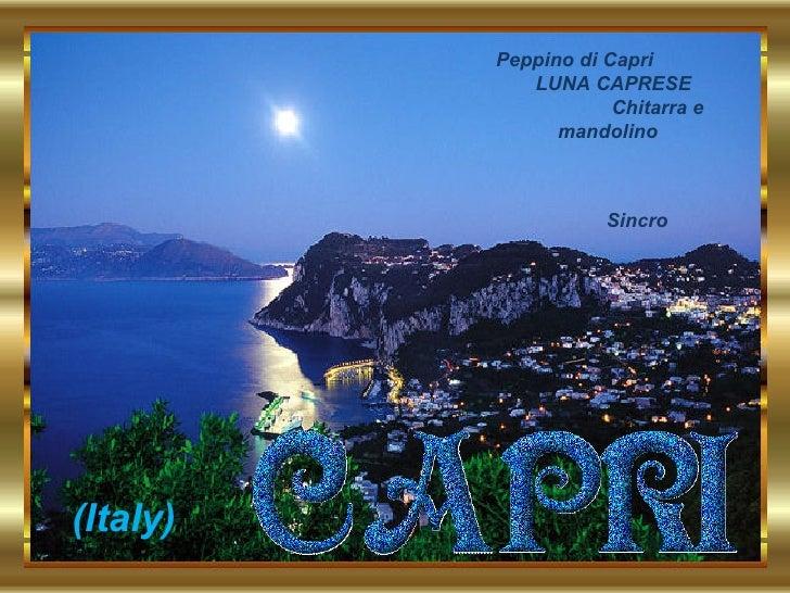 . Peppino di Capri  LUNA CAPRESE  Chitarra e mandolino Sincro (Italy)