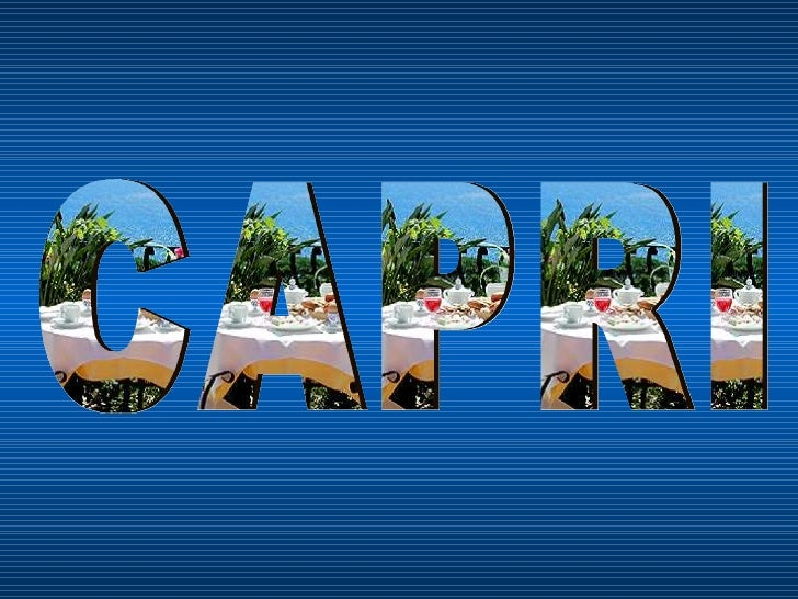 Capri Isola Meravigliosa