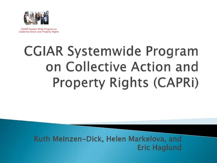 CGIAR System-Wide Program on Collective Action and Property Rights<br />CGIAR Systemwide Program on Collective Action and ...