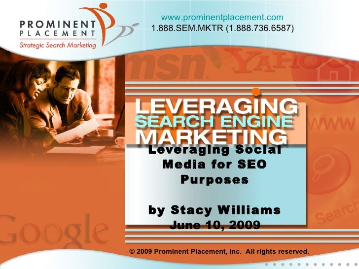 Leveraging Social Media for SEO (Search Engine Optimization)