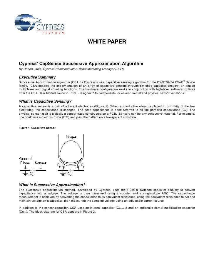 CapSense Capacitive Sensing Successive Approximation Algorithm