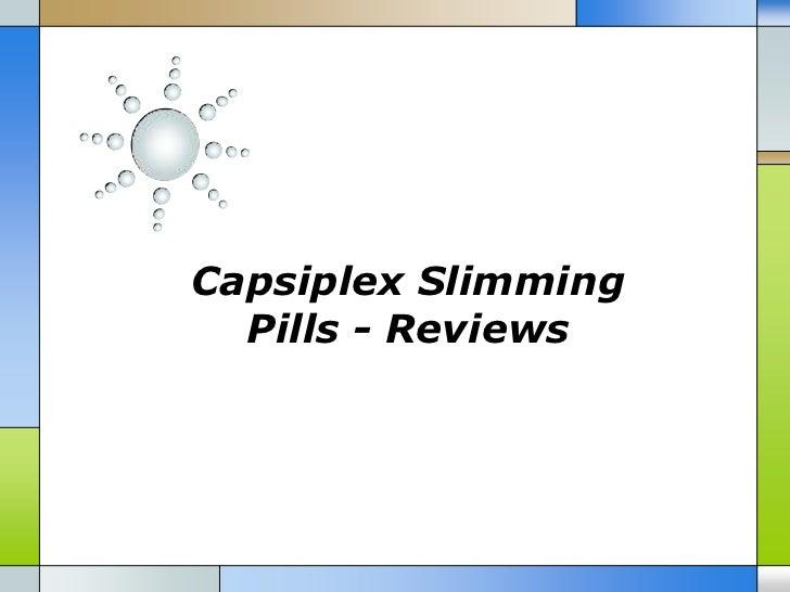 Capsiplex Slimming  Pills - Reviews