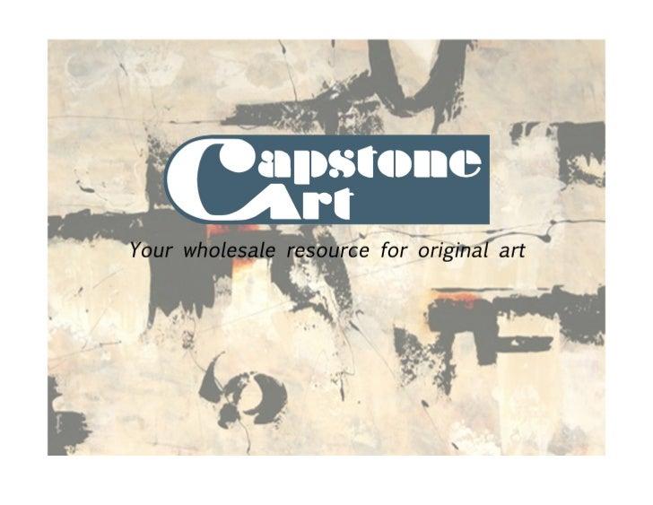 Welcome to Capstone Art