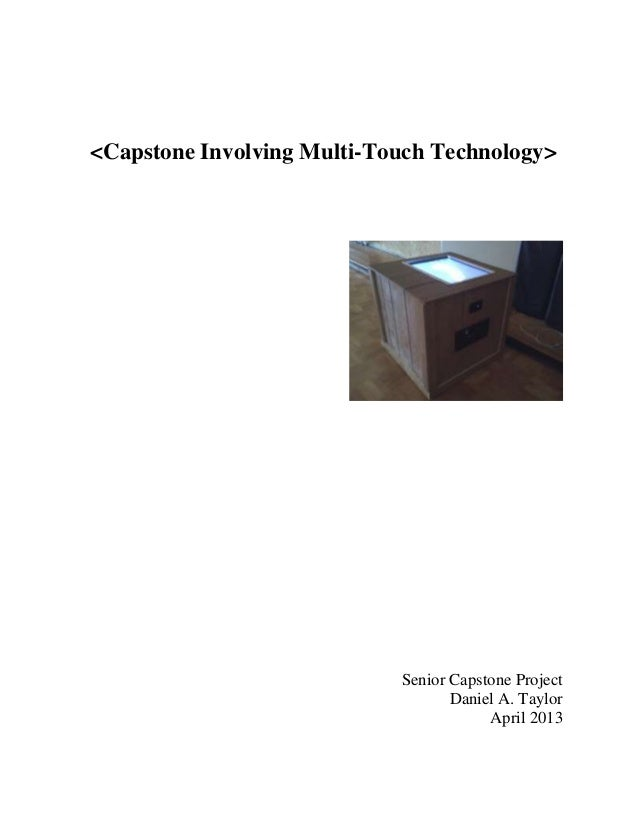 Capstone project multitouch