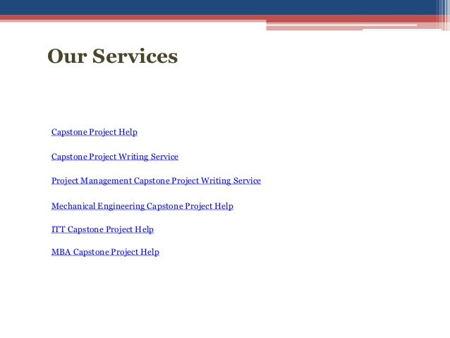 Writing service for capstone project