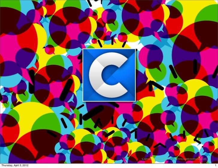 Capstone studios 3Cs of Social Mediaapril2012