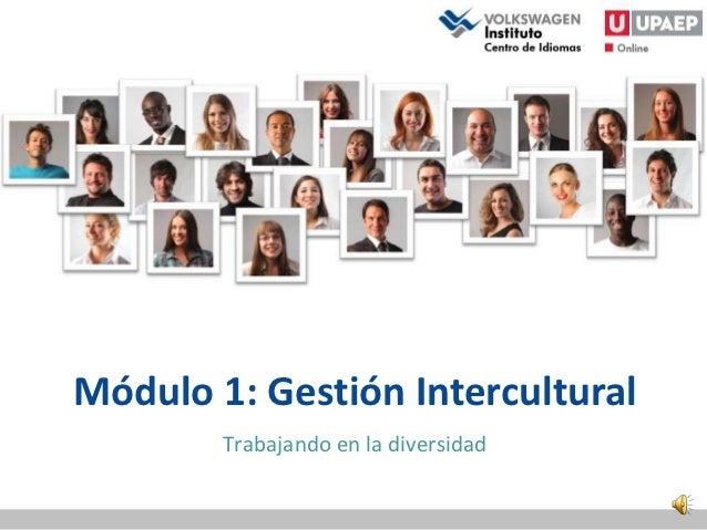 Módulo 1: Gestión Intercultural        Trabajando en la diversidad
