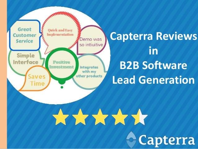 Capterra Reviews in B2B Software Lead Generation