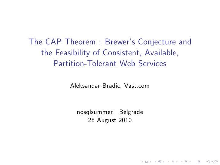 The CAP Theorem