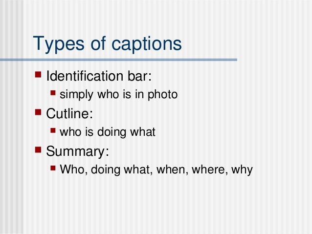 How to write a caption for a nature photo?