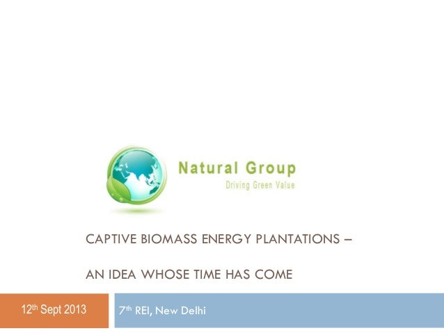 Captive biomass energy plantations
