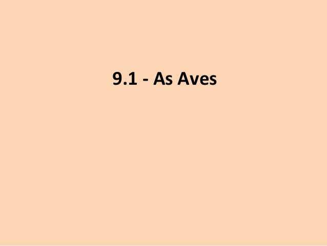 9.1 - As Aves