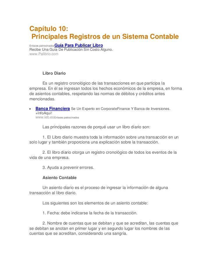 Capítulo 10 sistema de registro