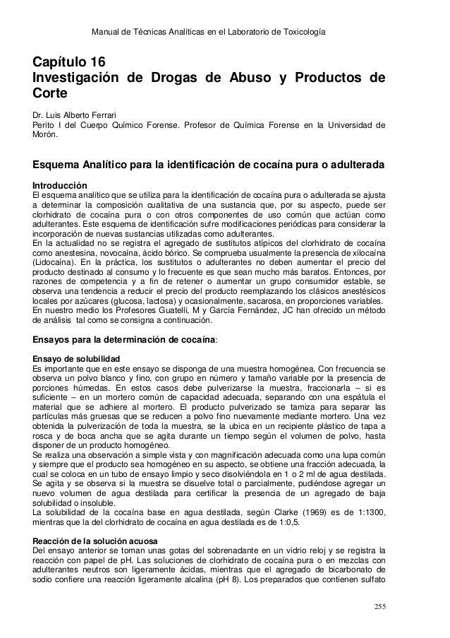 Manual de Técnicas Analíticas en el Laboratorio de ToxicologíaCapítulo 16Investigación de Drogas de Abuso y Productos deCo...