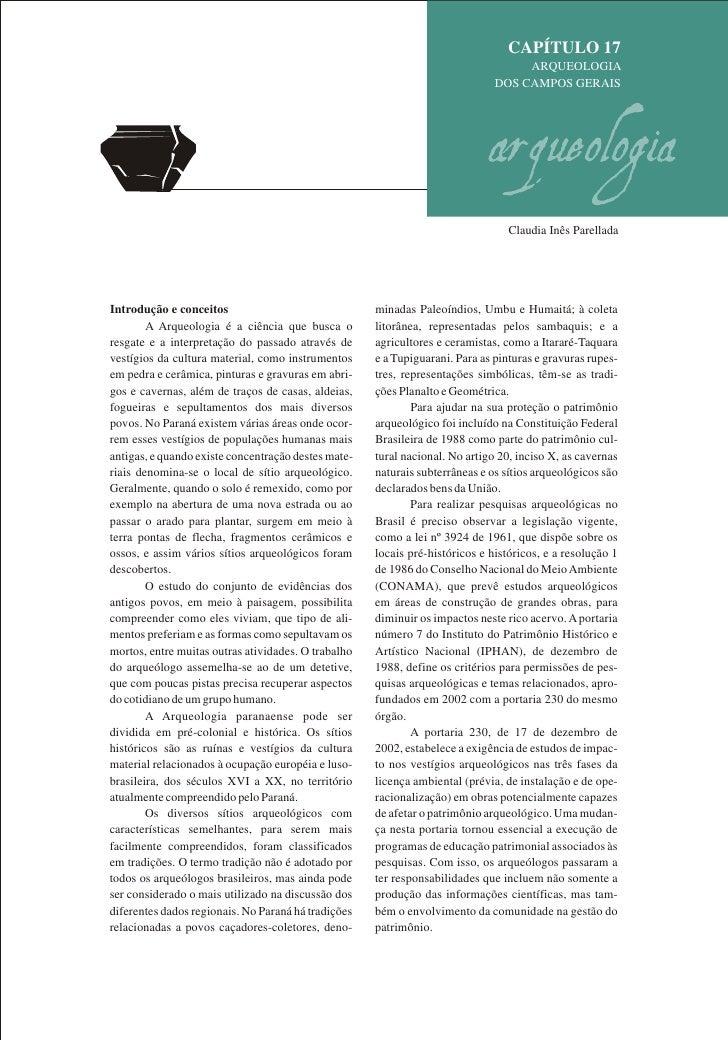 CAPÍTULO 17                                                                                   ARQUEOLOGIA                 ...