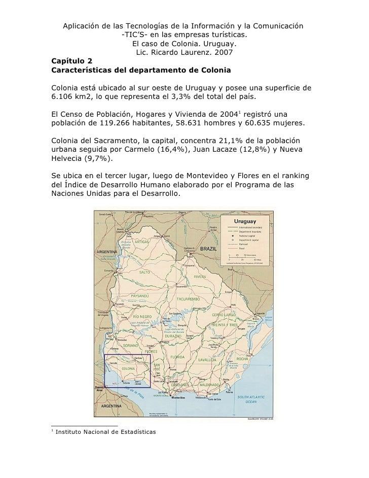 Aplicación de las Tecnologías de la Información y la Comunicación                    -TIC'S- en las empresas turísticas.  ...