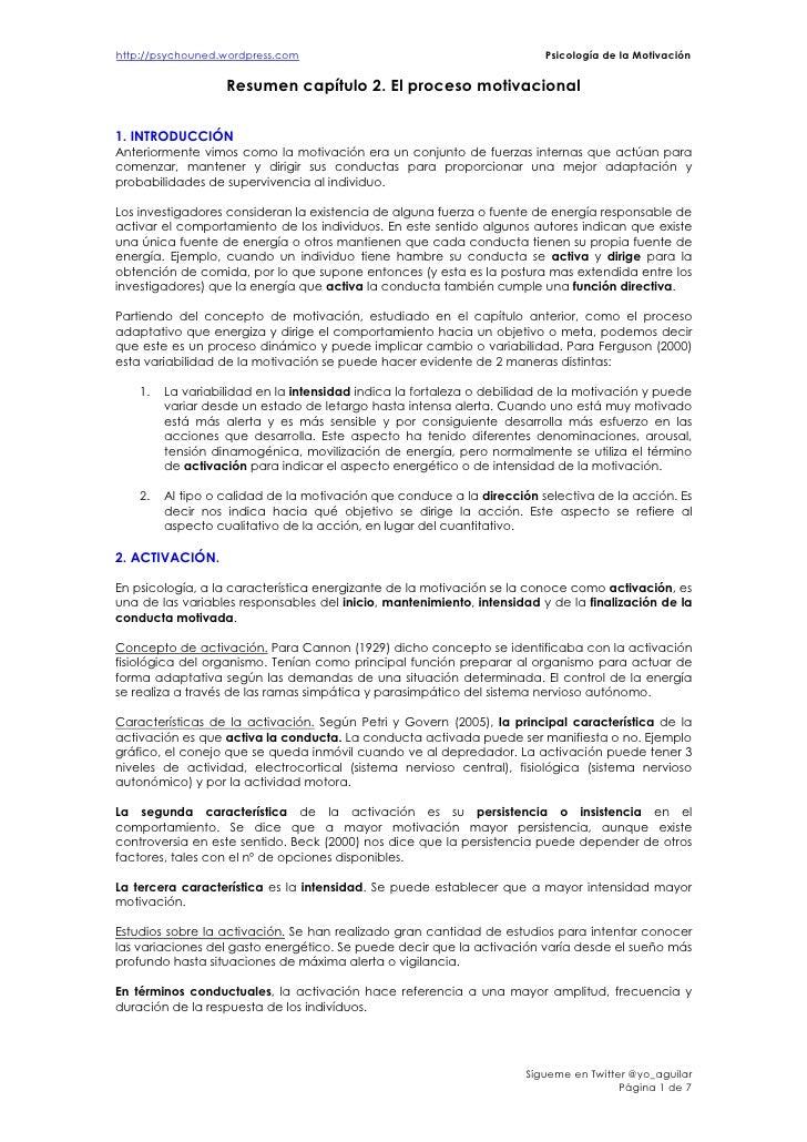 http://psychouned.wordpress.com                                          Psicología de la Motivación                   Res...