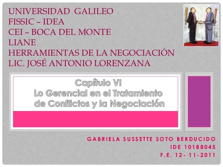 UNIVERSIDAD GALILEOFISSIC – IDEACEI – BOCA DEL MONTELIANEHERRAMIENTAS DE LA NEGOCIACIÓNLIC. JOSÉ ANTONIO LORENZANA        ...