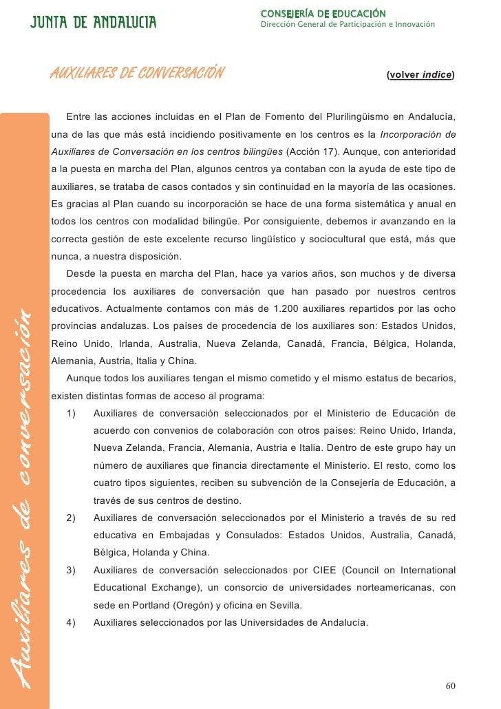 CONSEJERÍA DE EDUCACIÓN                                              Dirección General de Participación e InnovaciónAUXILI...