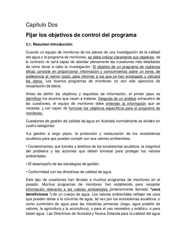 Capítulo DosFijar los objetivos de control del programa2,1. Resumen IntroducciónCuando un equipo de monitoreo de los plane...