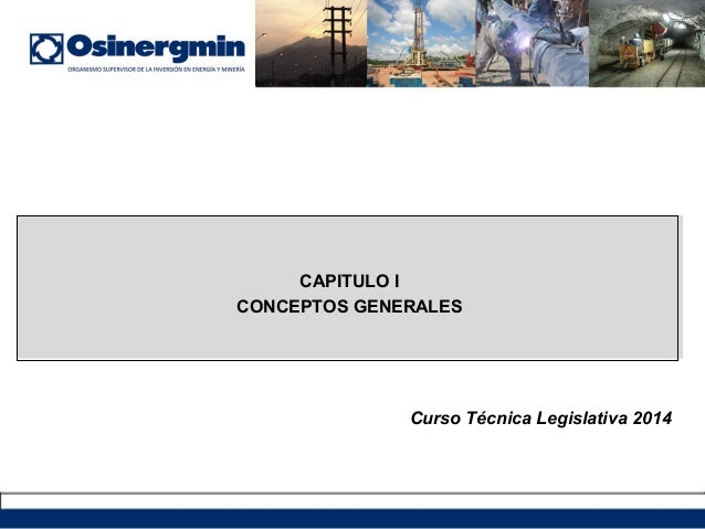 CAPITULO I CONCEPTOS GENERALES Curso Técnica Legislativa 2014