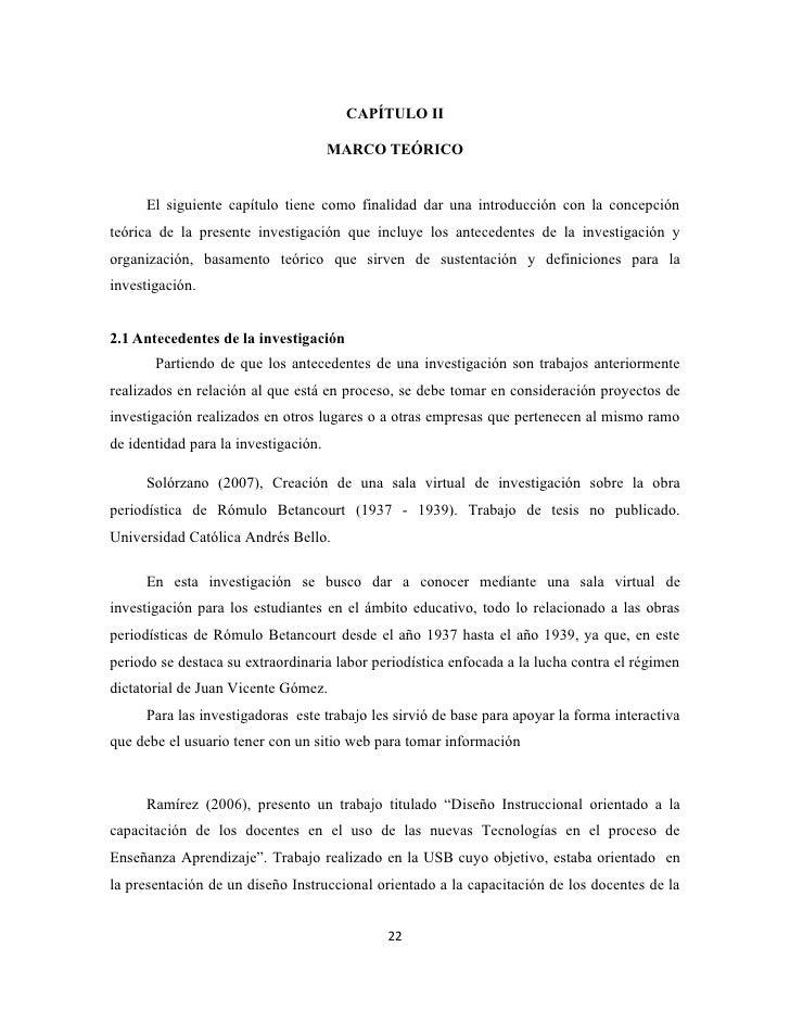 CAPÍTULO II                                      MARCO TEÓRICO      El siguiente capítulo tiene como finalidad dar una int...