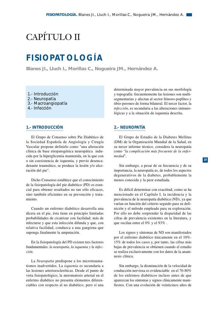 FISIOPATOLOGÍA. Blanes JI., Lluch I., Morillas C., Nogueira JM., Hernández A.     CAPÍTULO II  FISIOPATOLOGÍA Blanes JI., ...