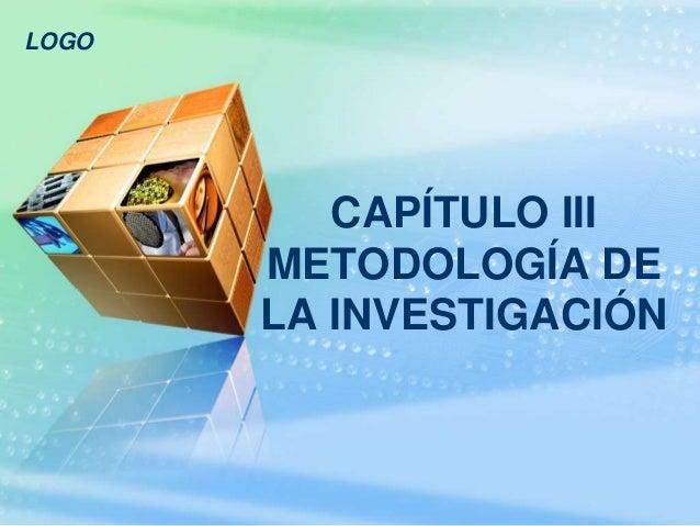 LOGO CAPÍTULO III METODOLOGÍA DE LA INVESTIGACIÓN