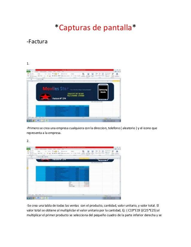 *Capturas de pantalla*-Factura1.-Primero se crea una empresa cualquiera con la direccion, telefono ( aleatorio ) y el icon...