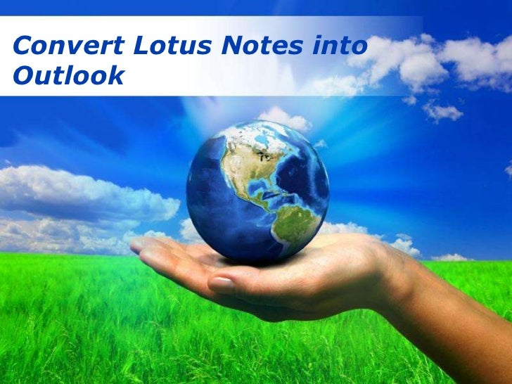 Capture all data of lotus notes to outlook