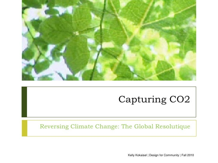 Capturing Co2 - The Global Resolutique