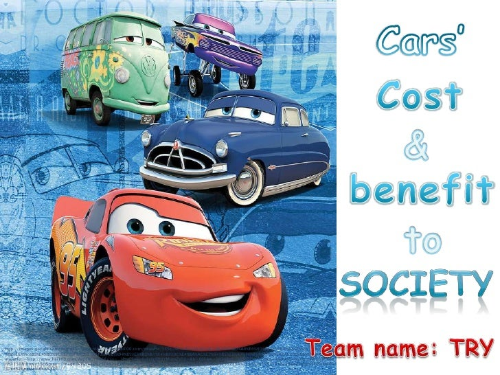 Cars' cost and benefit to society