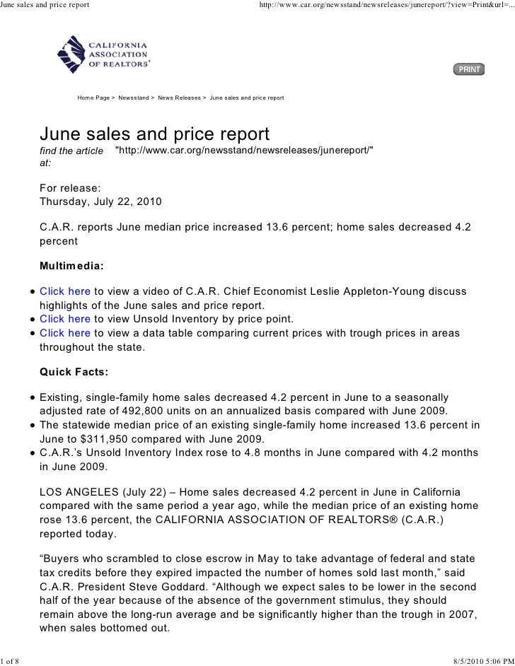 June sales and price report                                                       http://www.car.org/newsstand/newsrelease...