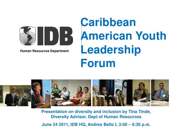 Caribbean-American Youth Leadership Forum, IDB June 24 2011