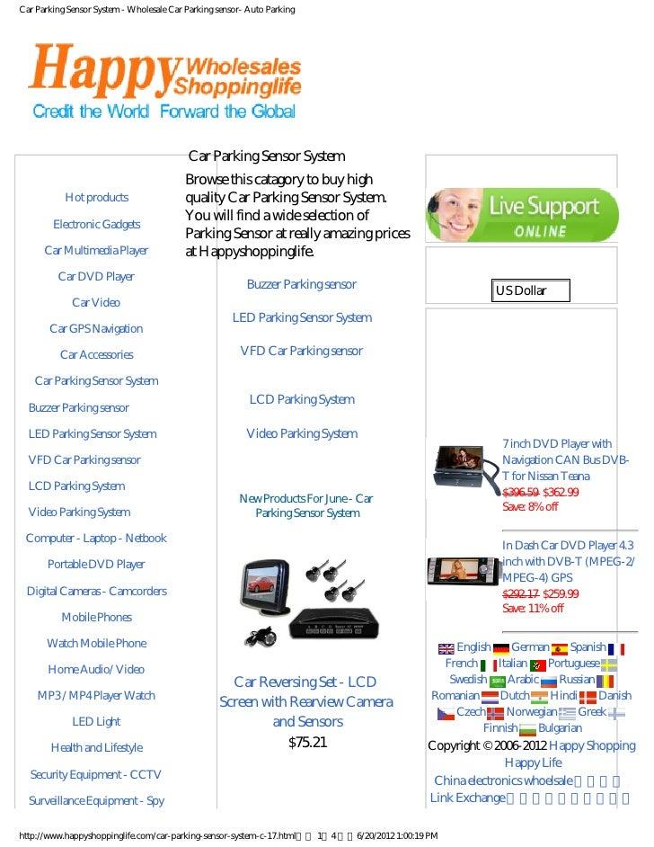 Car Parking Sensor System - Wholesale Car Parking sensor- Auto Parking                                           Car Parki...
