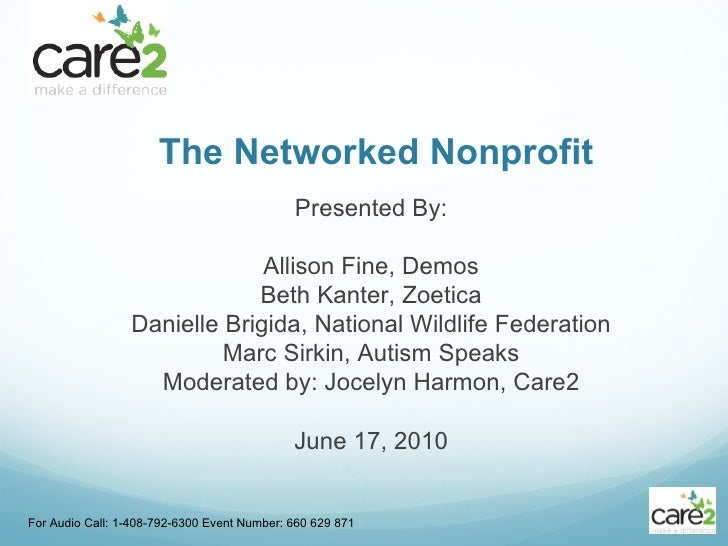Networked Nonprofit: Care2 Webinar