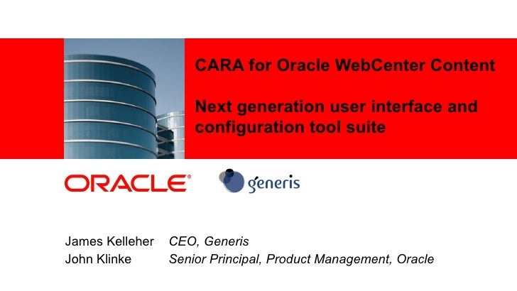 CARA User Interface for Oracle WebCenter
